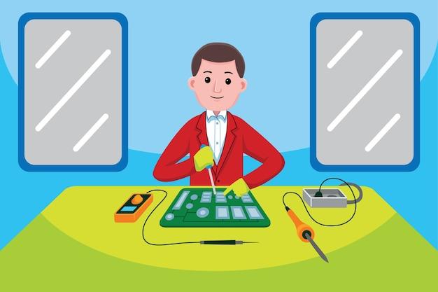 Beroep van elektronische technici