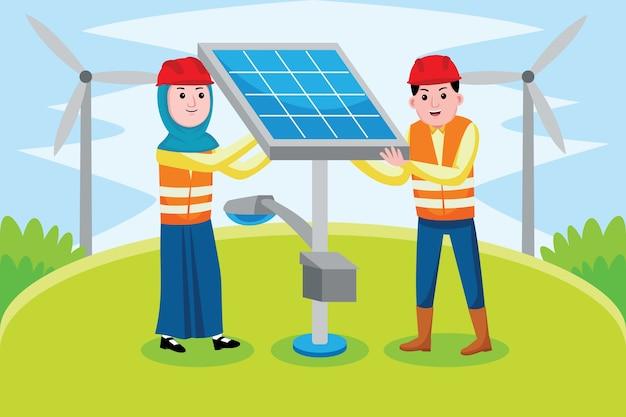 Beroep van zonne-ingenieurs