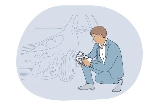 Beroepen, baan, carrière in het concept van een verzekeringsmaatschappij. -