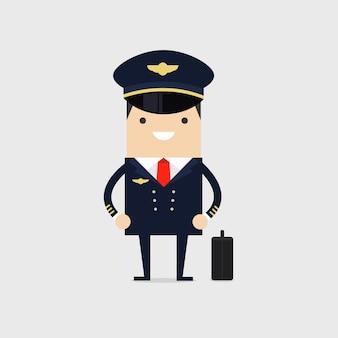 Beroepspiloot van vliegtuigen.