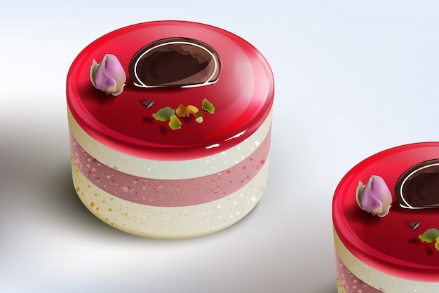 Berry cake mousse