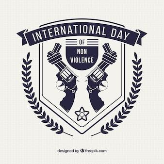 Beschadigde geweren om de dag van geweldloosheid te vieren
