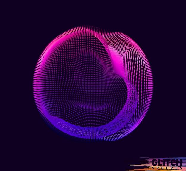 Beschadigde violet punt bol.