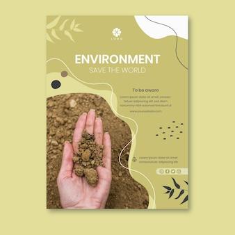 Bescherm de milieupostersjabloon