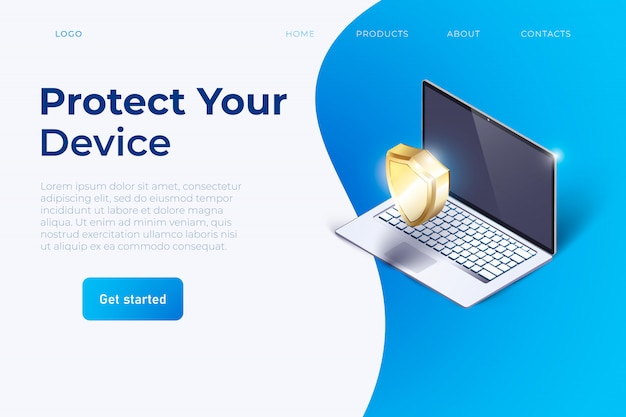 Bescherm uw apparaat slogan website