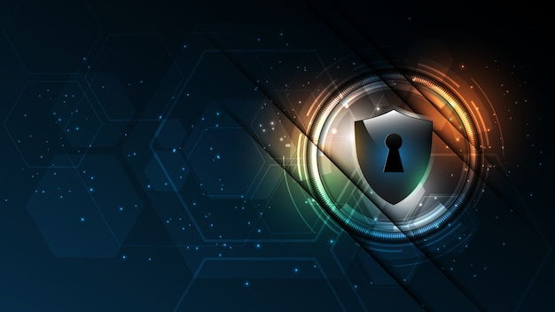 Beschermde bewaker beveiligingsconcept beveiliging cyber digitale abstracte technische achtergrond