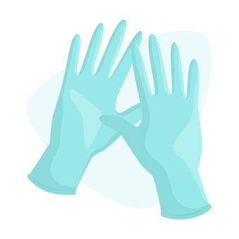 Beschermende handschoenen concept