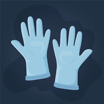 Beschermende handschoenen illustratie
