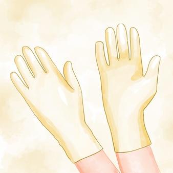 Beschermende handschoenen thema