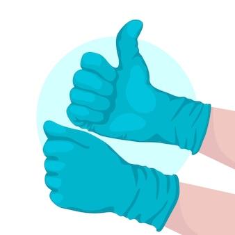Beschermende handschoenen voor coronavirusontwerp