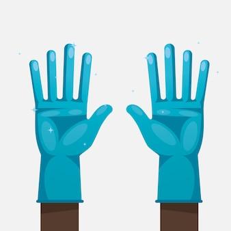 Beschermende handschoenen voor preventiethema