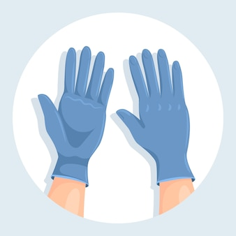 Beschermende handschoenen voor virusontwerp