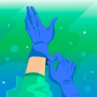 Beschermende handschoenen voor virussen