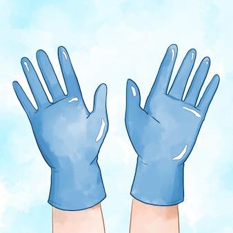 Beschermende handschoenenstijl