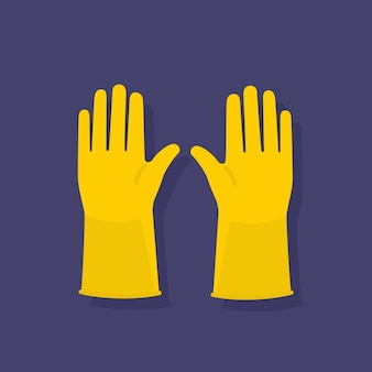Beschermende hygiëne gele handschoenen uitrusting