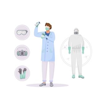 Beschermende kleding platte concept illustratie