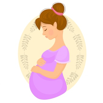 Beschermende moeder die haar babybuil houdt