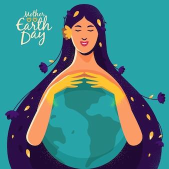 Beschermende moeder met aarde
