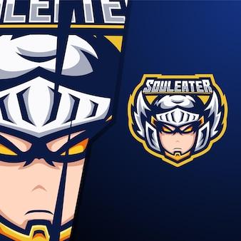 Beschermengel hoofd e sport logo sjabloon