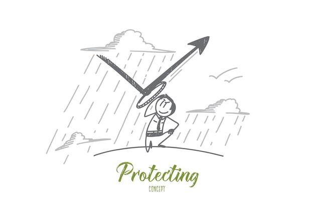 Bescherming concept illustratie