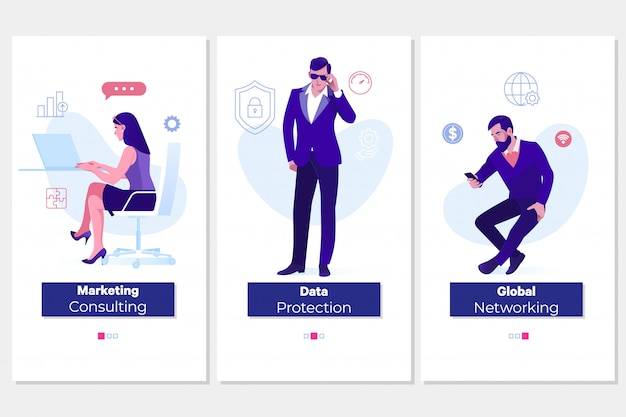 Bescherming, consulting, wereldwijde netwerkconcepten