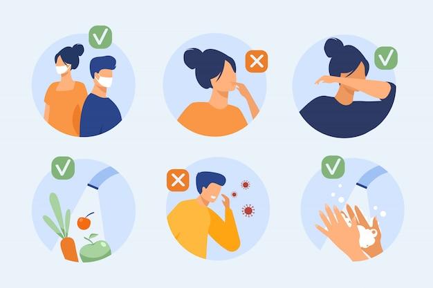 Bescherming tegen coronavirus tips