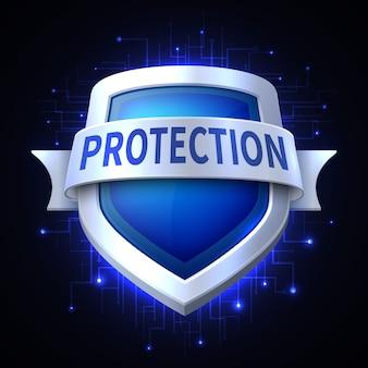 Beschermingsschild pictogram voor verschillende veiligheid