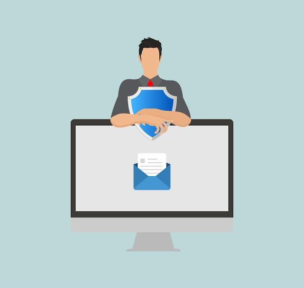Beschermingsschild voor e-mailbeveiliging