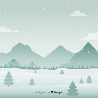 Besneeuwde berg achtergrond