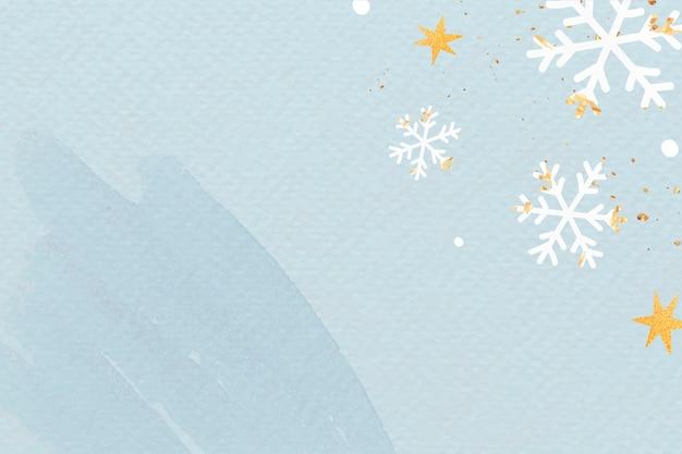 Besneeuwde kerst achtergrond Gratis Vector