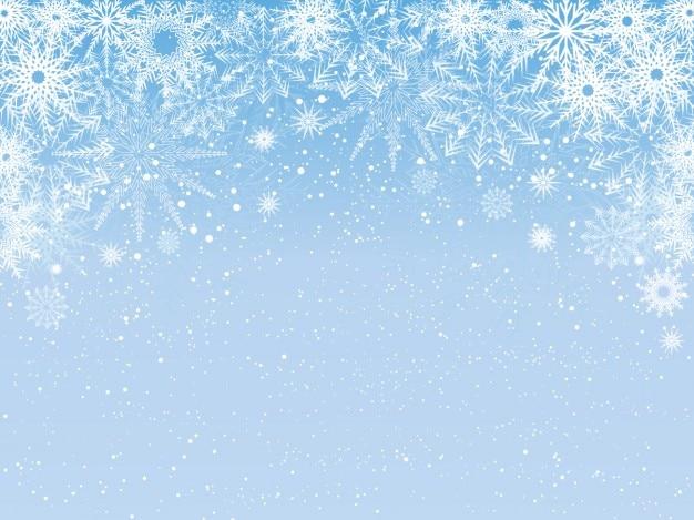 Besneeuwde lichtblauwe achtergrond