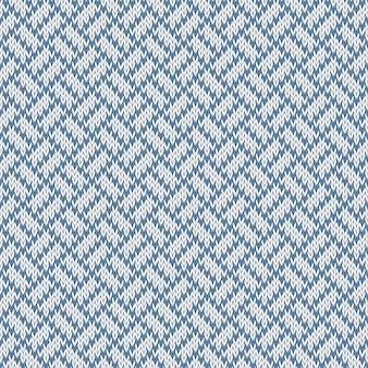 Besneeuwde paden. naadloos wollen gebreid patroon