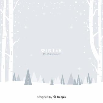 Besneeuwde veld winter achtergrond