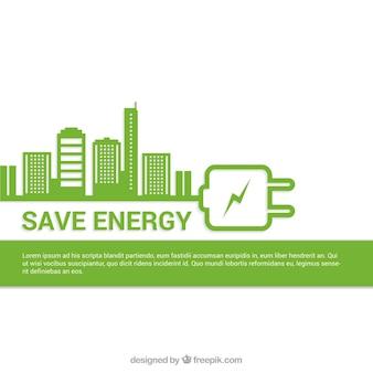 Bespaar energie achtergrond