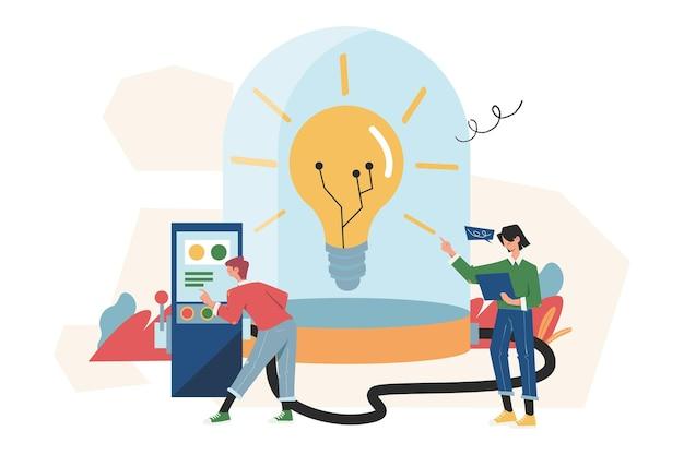 Bespaar energie en planeet, ontwerpconcept