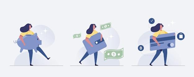 Bespaar geld concept