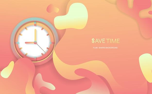 Bespaar tijd fluid shapes abstracte achtergrond