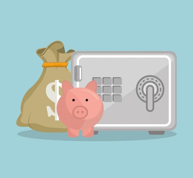 Besparingen en geldconcept