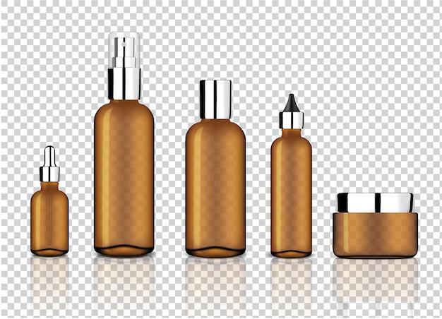 Bespotten realistisch glanzend amber transparant glas