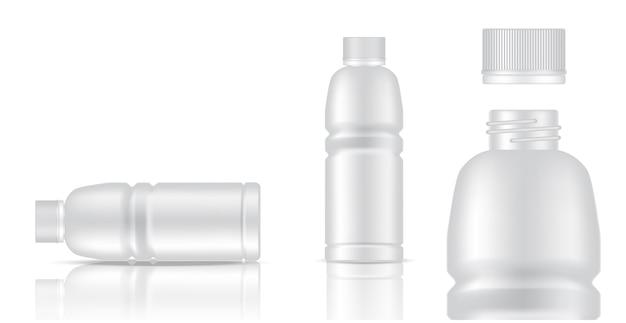 Bespotten van realistisch plastic verpakkingsproduct