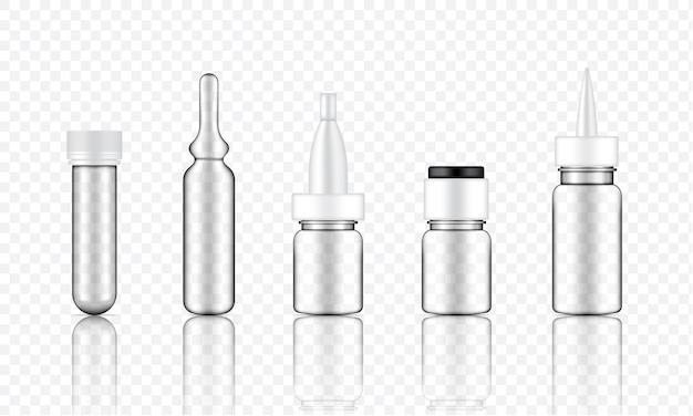 Bespotten van realistisch transparant cosmetisch serum
