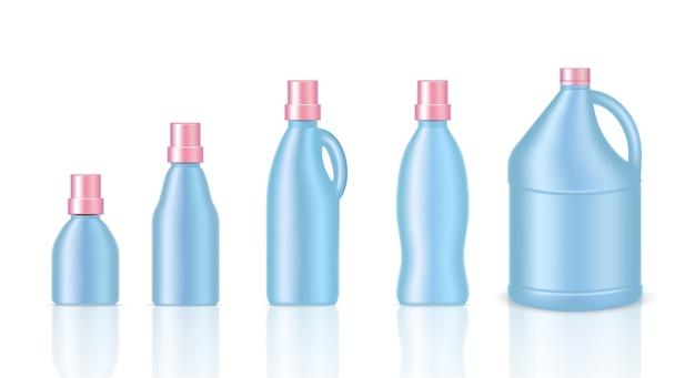 Bespotten van realistische plastic gallonverpakkingen