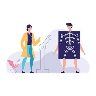 Bespreken van x ray joint vector illustratie