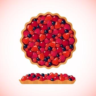 Bessen taart illustratie