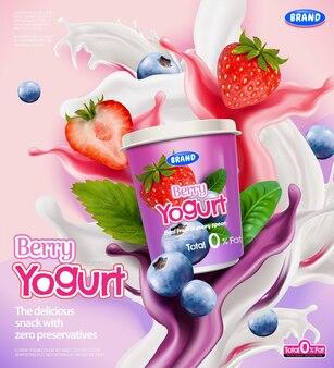 Bessenyoghurt advertenties