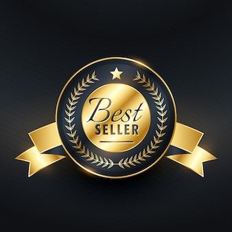 Best-seller gouden label badgeontwerp