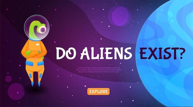 Bestaan er buitenaardse wezens met een schattig cartoonwezen en een vraag?