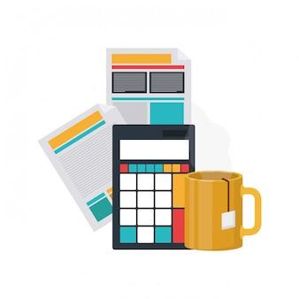 Bestand blad met rekenmachine
