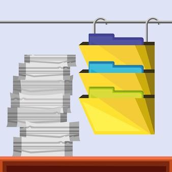 Bestand papierwerk kantoormappen archief