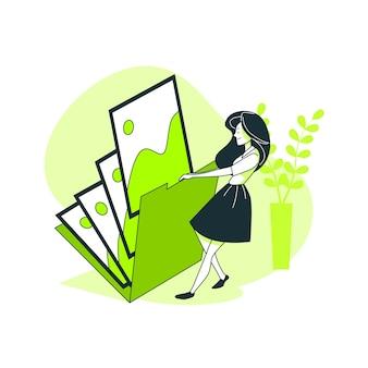 Bestandsmap concept illustratie